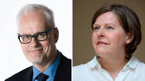 Petri Sarvamaa ja Heidi Hautala.
