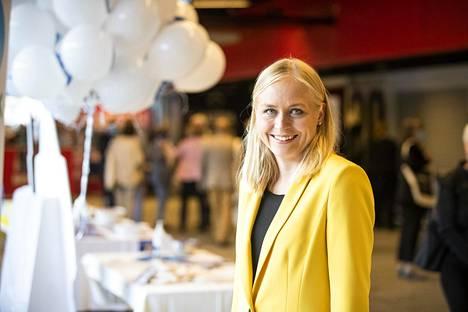 Elina Lepomäki valittiin syksyllä Porin puoluekokouksessa kokoomuksen varapuheenjohtajaksi.