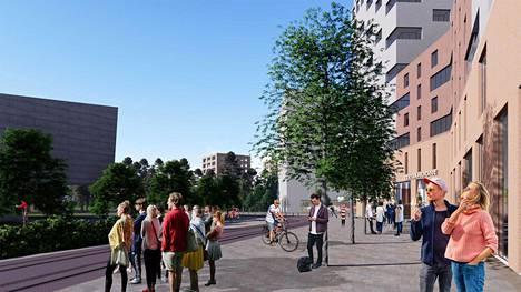 Tällaiselta voisi näyttää Kiviruukin asuinalue Espoossa. Alueen talojen julkisivuista tai muista yksityiskohdista ei ole vielä päätöstä.