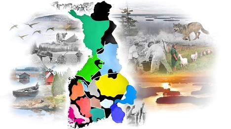 Idässä, lännessä ja pohjoisessa on harjoitettu erilaista maataloutta ja pidetty yhteyksiä eri suuntiin.