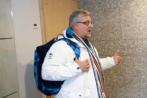 Harri Syväsalmi kertoo olevansa motivoitunut vaikuttamaan niin kansallisesti kuin kansainvälisestikin. Kuva helmikuulta 2014.