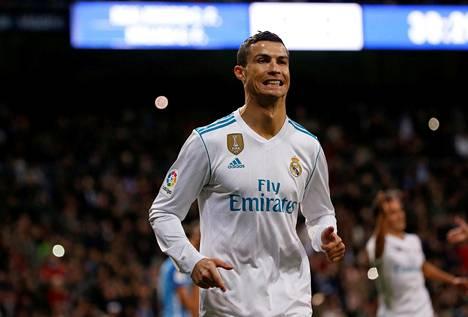 Cristiano Ronaldo onnistui maalinteossa lauantaina Malagaa vastaan.