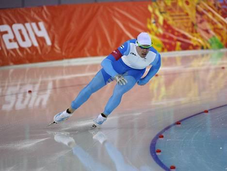 Mika Poutala kuvattuna Sotšin olympialaisissa vuonna 2014.