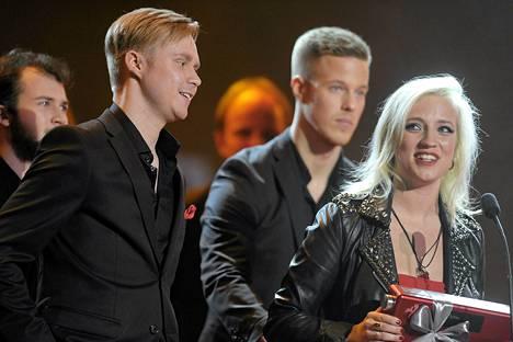 Haloo Helsinki! palkittiin vuoden yhtyeenä Tampere-talossa järjestetyssä Iskelmä Gaalassa tammikuussa.