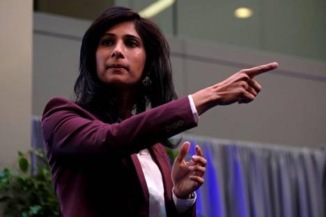 Kansainvälisen valuuttarahaston (IMF) pääekonomisti Gita Gopinath.