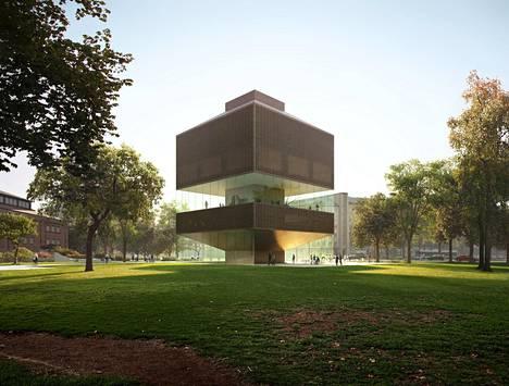 Tampereen taidemuseon lisärakennuksen yleisen kilpailun voitto herätti laajaa huomiota.