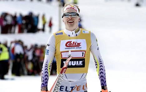 Iivo Niskanen viime kevään SM-hiihdoissa Taivalkoskella.