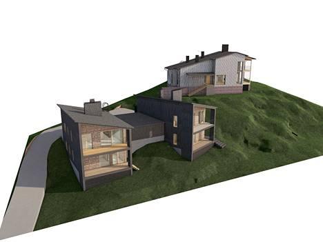 Espoon Nöykkiöön rakennetaan omakotitaloja, joissa on painovoimainen ilmanvaihto. Taaimmainen taloista sai rakennusluvan elokuussa.