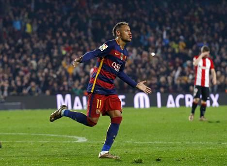 Neymar on tehnyt tällä kaudella Barcelonalle 16 liigamaalia.
