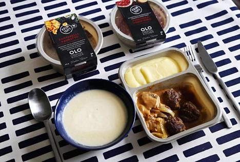 Olo Creative Kitchen -sarjan ruoat on kehitellyt ravintoloitsija, keittiömestari Pekka Terävä, mutta ne valmistetaan Kauhavalla.