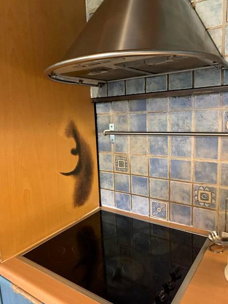 Tulipalossa osa keittiötä meni remonttiin.