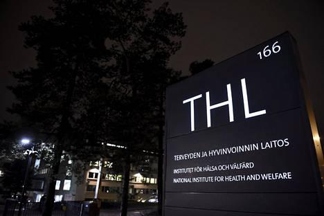 Terveyden ja hyvinvoinnin laitoksen portti Helsingissä keskiviikkona. THL on kansainvälisen terveyssäännöstön yhteysviranomainen Suomessa.