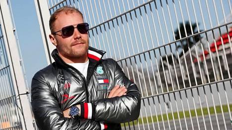 Valtteri Bottas kuvattiin torstaina Barcelonan F1-testien yhteydessä.