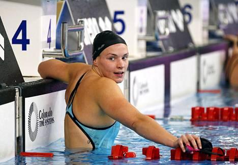 Jenna Laukkanen kuvattuna Oulun SM-kisoissa marraskuussa.
