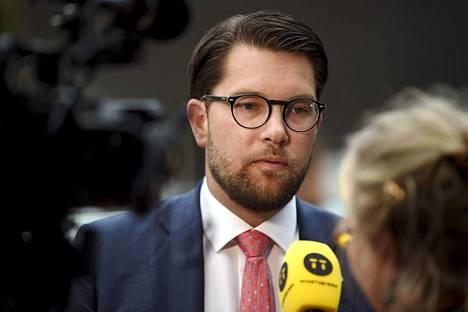 Ruotsidemokraattien poheenjohtaja Jimmie Åkesson.