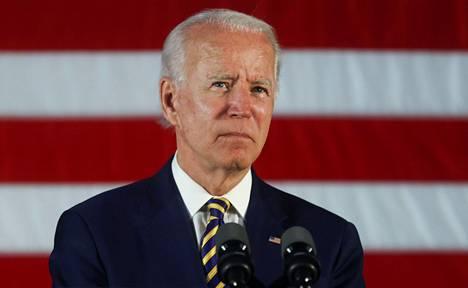 Demokraattien presidenttiehdokas Joe Biden kampanjatilaisuudessa Darbyssä, Pennsylvanian osavaltiossa 17. kesäkuuta.