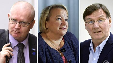 Jari Lindströn, Tuija Brax ja Jukka Gustafsson.