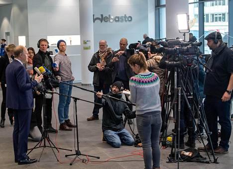 Webaston toimitusjohtaja Holger Engelmann puhui medialle 12. helmikuuta.