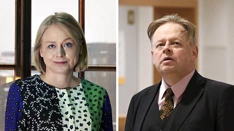 Kokoomuskansanedustajat Elina Lepomäki ja Juhana Vartiainen