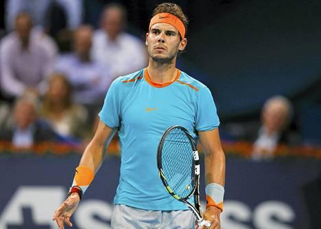 Rafael Nadal Sveitsissä lokakuussa.
