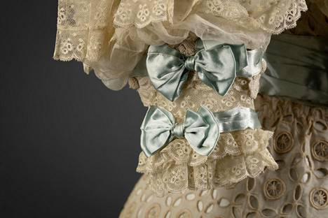 Detail of an evening dress completed in 1904, the collections of the Gothenburg City Museum.  - Book illustrations.
