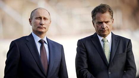 Vladimir Putin (vas.) ja Sauli Niinistö.