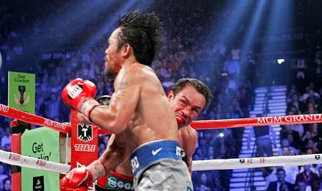 Juan Manuel Marquez tyrmäsi Manny Pacquiaon kuudennessa erässä.