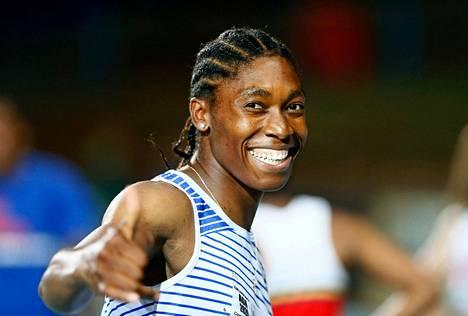 Caster Semenya kilpaili 200 metrillä maaliskuussa 2020 Pretoriassa Etelä-Afrikassa.