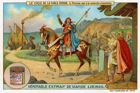 Pyöreän pöydän ritareista ja Graalin maljan etsinnästä on tehty myös keräilykortteja.