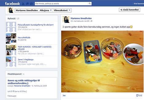Äiti julkaisi kuvan koskemattomista karkkikulhoista ensin Facebook-sivullaan.