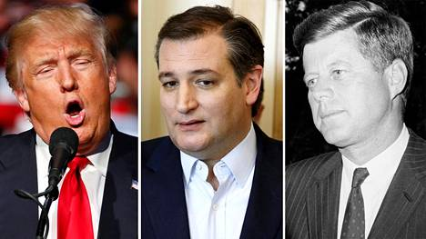 Donald Trump, Ted Cruz ja John F. Kennedy
