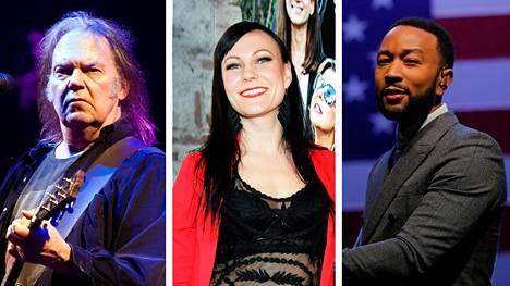 Neil Young, Mira Luoti ja John Legend aikovat soittaa nettikonsertteja.