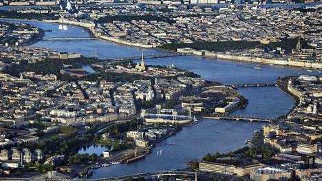 Ilmakuva Pietarista toukokuussa 2018.