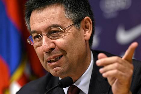Barcelonan puheenjohtaja Josep María Bartomeu