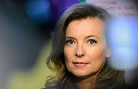 Ranskan presidentin François Hollanden puoliso Valérie Trierweiler.