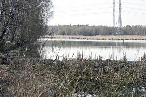 Suomenojan lintualtaiden luona oli heitetty penkki veteen ja tuhottu näyttelytelineitä.