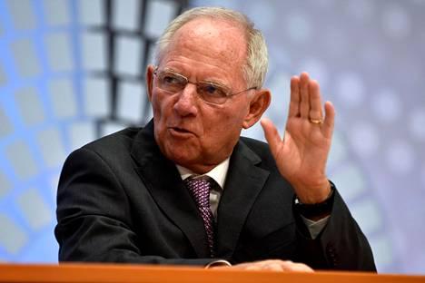 Saksan valtiovarainministeri Wolfgang Schäuble