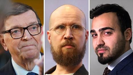 Paavo Väyrynen (tl), Touko Aalto (vihr) ja Ozan Yanar (vihr) putosivat eduskunnasta.