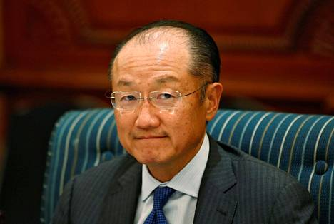 Maailman pankin johtaja Jim Yong Kim viime kesäkuussa Delhissä.