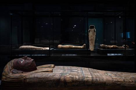 Amos Rexin Egypti-näyttelyssä on esillä muumioita.