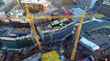 Helsingin Jätkäsaareen valmistui viime vuonna 674 asuntoa. Alueen rakennustahti oli kaupungin vilkkainta.
