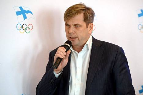 Vaasan Sportin Heikki Hiltunen puhui maaliskuun lopulla Olympiakomitean Finland House-konseptin esittelytilaisuudessa.