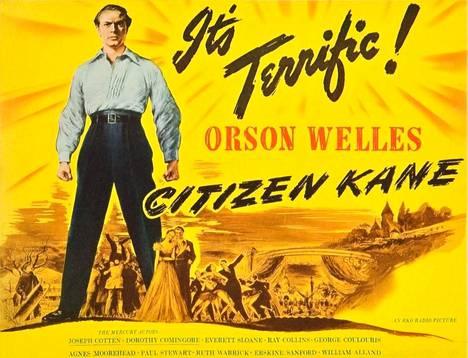 Citizen Kane -elokuvan juliste 1940-luvulta.