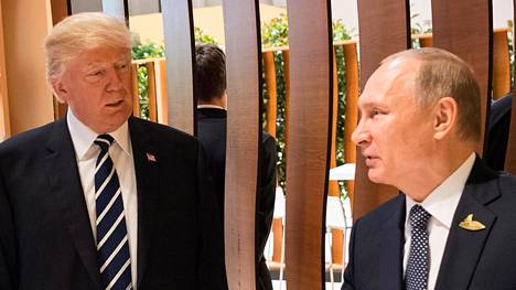 Donald Trump ja Vladimir Putin tapasivat Hampurissa G20-kokouksessa heinäkuun alussa.