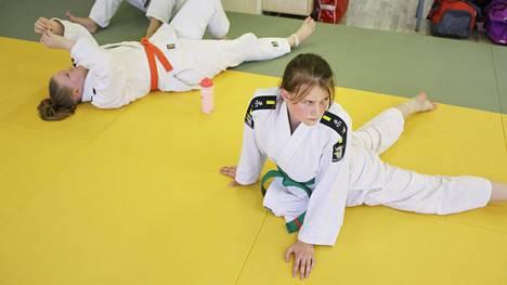 Judoka Jenna Helinin (oik.) nilkka on ollut kipeä pitkään.