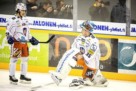 Mika Noronen toimi viime keväänä Tapparan kakkosvahtina.