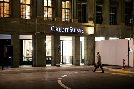 Sveitsiläispankki Credit Suissen paikalliskonttori Bernissä.
