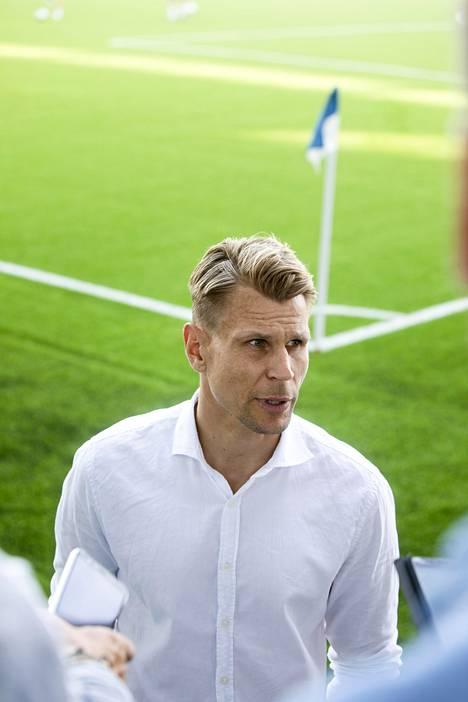 HJK-valmentaja Toni Koskela ei osannut sanoa mitään lopun hylätystä maalista.