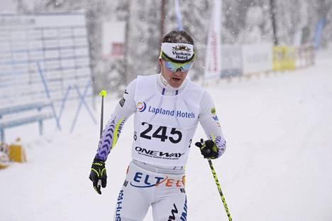 Sami Jauhojärvi hiihti voittoon Rukalla.