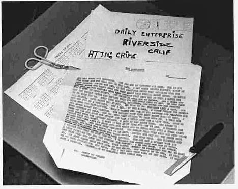 """Marraskuussa 1966 poliisille lähetetty """"tunnustus"""". Kirjoittaja kertoo, että hän rikkoi 18-vuotiaan opiskelijan Cheri Jo Batesin autosta virranjakajan ennen kuin surmasi tämän."""